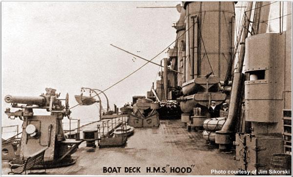 Boat Deck, H.M.S. Hood