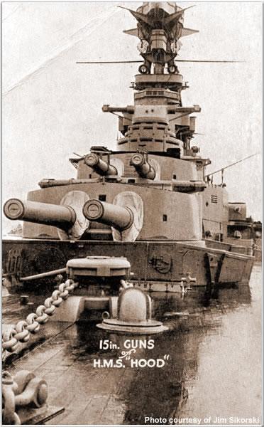 15 inch Guns of H.M.S. Hood