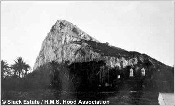 The rock of Gibraltar, circa 1937 or 1938