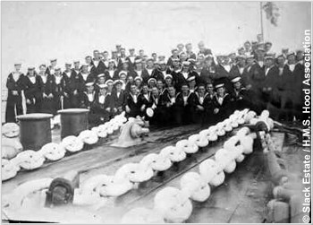 Crewmen on H.M.S. Hoods focsle