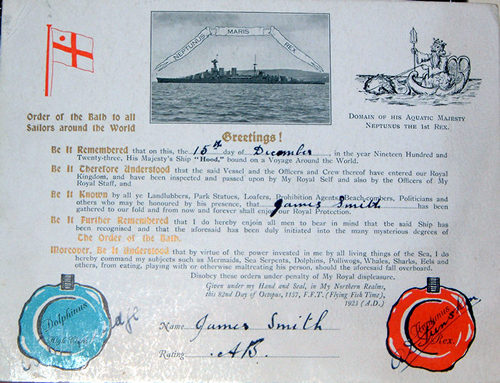 Order of the Bath Certificate