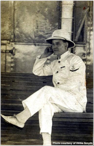 Steward Cyril Fernley Smyth aboard Hood during 1924