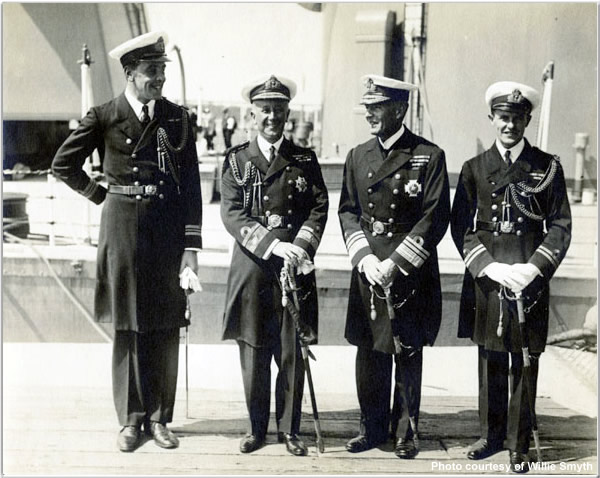 Special Service Squadron officers (to include RADM Brand and VADM Field) at Vancouver in June or July 1924