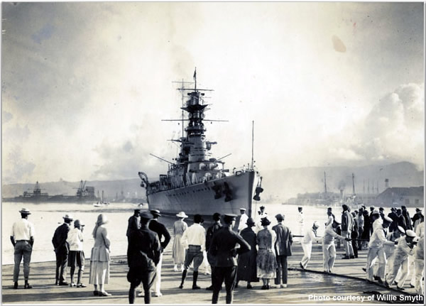 H.M.S. Hood at Vancouver, British Columbia, Canada in June or July 1924