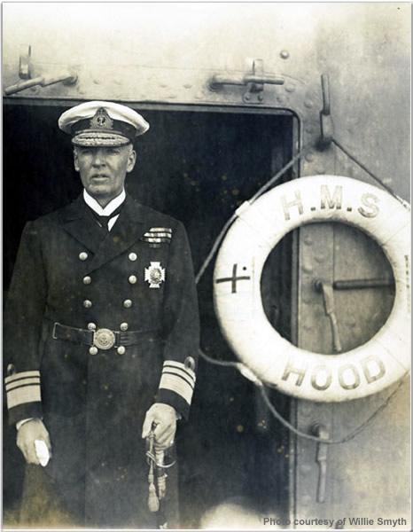 VADM Sir Frederick Laurence Field aboard H.M.S. Hood, 1924