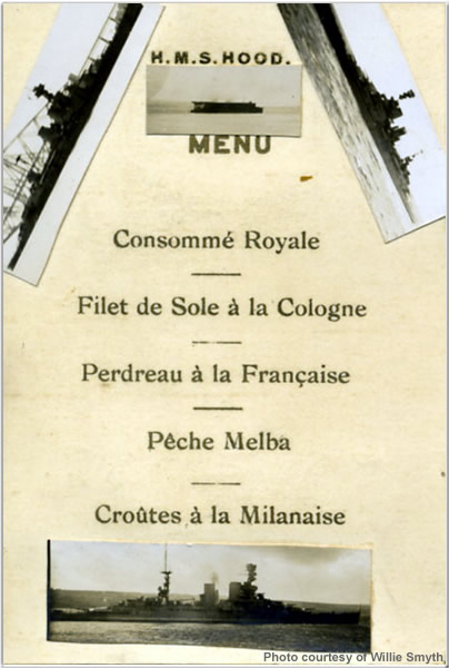 Special Service Squadron Menu from 1923 or 1924