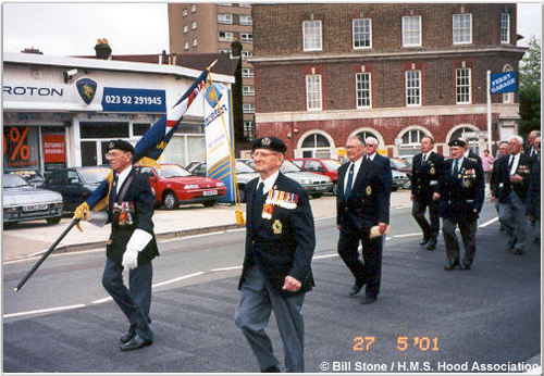 H.M.S. Hood Association march, May 2001