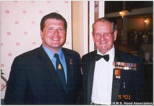 Bill Stone and Frank Allen (right), May 2001
