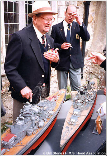 Colin Vass's models of Hood and Bismarck