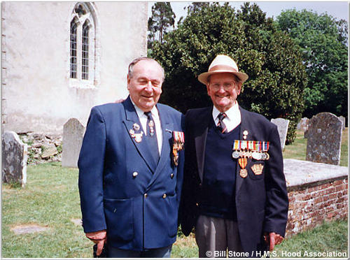 Ken Clark (left) and Bill Stone at Boldre, 1998