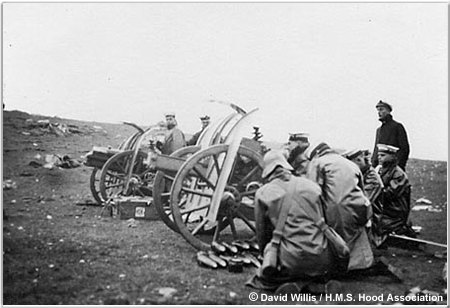 "3.7"" Howitzer Battery in Action"
