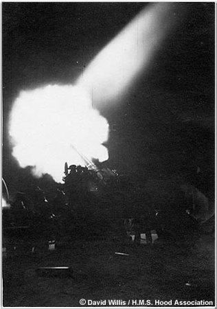 4 inch star shell firing