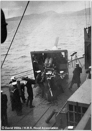 Sailors firing 5.5 inch gun