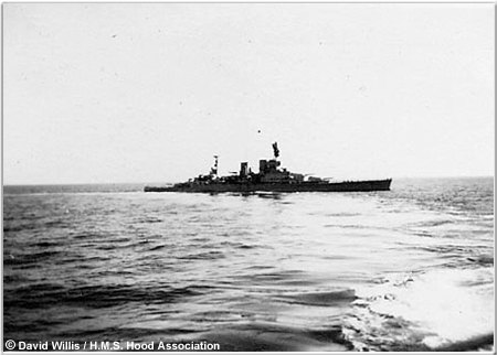 Renown following the collision with Hood